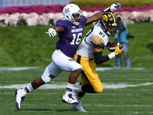 NCAA Football: Iowa at Northwestern