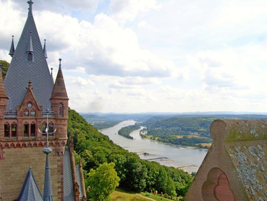 Beautiful views of the Rhine River are one reason to