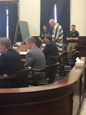 Branden Miesmer gives a statement during his sentencing hearing Friday.
