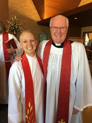 Rick Greenwood, who served St. David's Episcopal Church for 26 years before retiring in 2014, returned to celebrate Carolyn Coleman's installation as rector at the church.