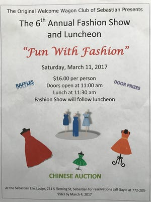 Flyer for The Original Welcome Wagon Club of Sebastian's sixth annual Fashion Show & Luncheon
