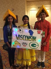Forest Park Middle School students Pallavi Kandipati,