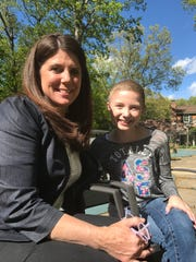Ringwood's Hannah Boorse, alongside mom Cathleen, as the Stop & Shop fundraising campaign kicked off earlier this year.