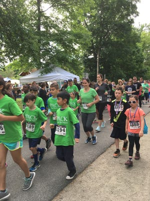 Members of the Hagan Elementary School Kids Run the Nation program ran in the Mommy Dash on the Dutchess Rail Trail on June 4.