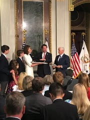 Bill Hagerty of Nashville is sworn in as the 42nd U.S.