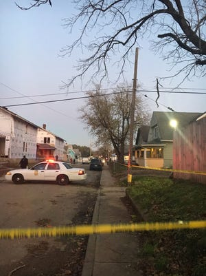 The scene of a shooting at the 1800 block of Cottage Avenue on Nov. 19, 2017.