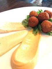 An order from crab tots at Gladstone Tavern in Peapack-Gladstone.
