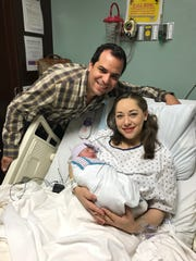 Baby Maria Catalina Delgado was one of the first babies born in El Paso in 2018. She arrived at 3:22 a.m. to parents Andrea Mendez and Jose Luis Delgado at the Hospitals of Providence Memorial Campus.