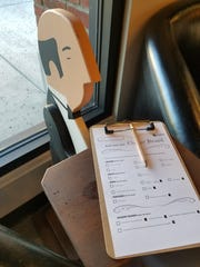 A quirky cheeseboard order form is pictured at GenuWine Arizona on Roosevelt Row at First Avenue and Roosevelt Street in downtown Phoenix.