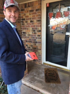Republican Craig Carter of Nocona knocked on doors in Wichita Falls to meet with prospective voters as he launched his campaign for the Texas Senate.