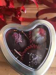 """The Cocoa Tree is offering this """"Be Mine"""" three-piece"""