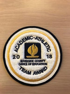 The patch the student-athletes earned for their academic achievement.