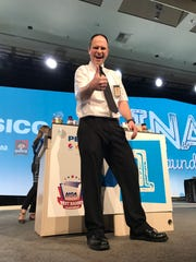 Trevor DeForest, 35, of Maquoketa, Iowa, won the National Grocery Association's Best Bagger competition on Monday, Feb. 12, 2018, in Las Vegas. DeForest, who has worked nearly 21 years for Fareway Stores Inc., is currently an assistant manager at the 110 Westgate Drive location in Maquoketa.