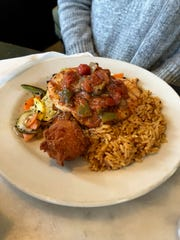 The Creole Chicken features grilled chicken and Creole