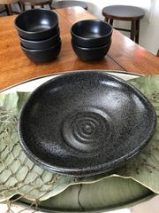 Kim Banick will use these bowls to present her seafood dish to the judges at the World Championships' Final Table in Bentonville, Arkansas.