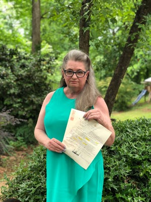 Former Mauldin High School English teacher Yvonne Mason corrected a letter she received from President Trump and sent it back to the White House. A photo of the letter, with Mason's comments in purple ink, has become a social media sensation.