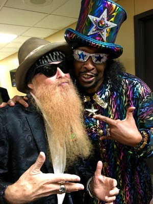 Billy Gibbons with Bootsy Collins.