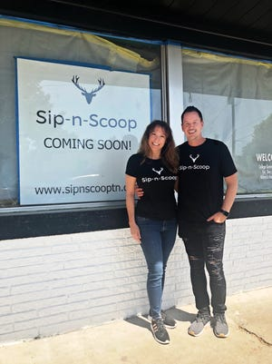 Bryan Todd and April Erb are renovating the old grocery store in College Grove into Sip-n-Scoop, which will be part coffee shop, part grocery store, but a complete place to gather.