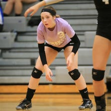 One of the key newcomers for Plymouth's volleyball team is libero Charley Irvin.