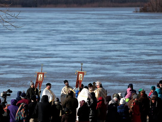 Congregations from three local Orthodox churches gather
