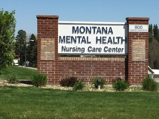 The sign at the entrance of the Montana Mental Health