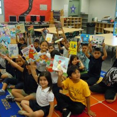 This Desert Sun file photo shows last year's Theodore Roosevelt Elementary School kindergarten class. The school is one of several in the Desert Sands Unified School District that may offer full-day kindergarten classes this fall if a proposal is approved.