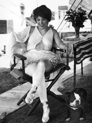 Circus star Lillian Leitzel inside her private tent