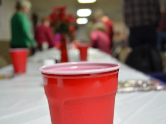 Party cup for Christmas.
