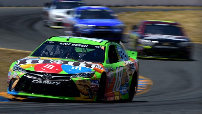 Kyle Busch, a winner last month at Sonoma, could use another victory this weekend at Kentucky Speedway