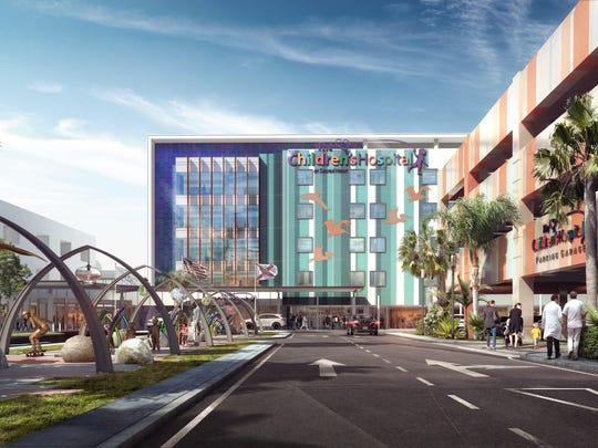 Construction of a new 120,000 square foot, five-story children's hospital at Sacred Heart will begin in early 2016.