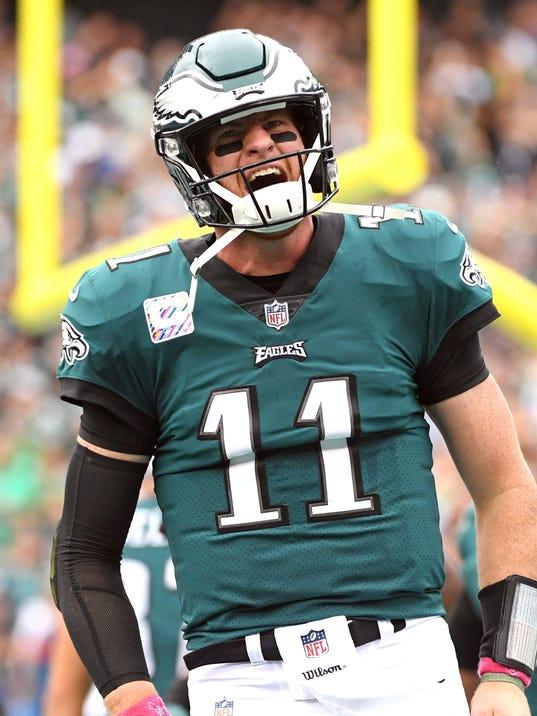 Carson Wentz Throw >> NFL MVP tracker: Eagles' Carson Wentz retains firm grip on first place