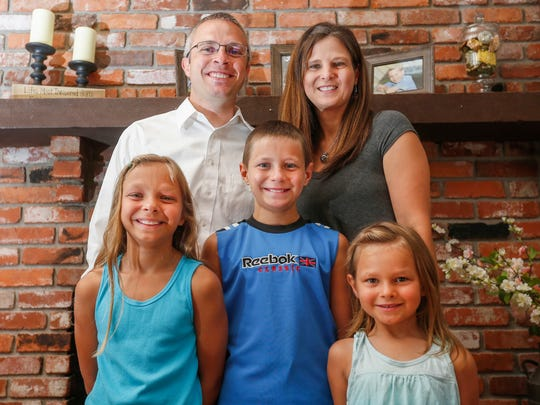 Matt Teeter, pictured here with his wife Suzanne and their three children, from left, Eva, Leyton and Darci, will be the new superintendent for the Willard School District.