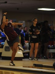 Thashaina Seraus competes in a MEAC event for UMES.