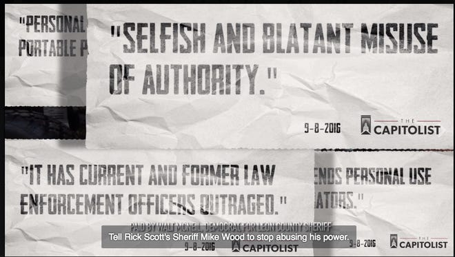 Walt McNeil's ad attacking Mike Wood and his use of the LCSO generators.