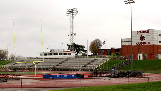 A student was arrested after school officials said he brought weapons to a Colerain High School football game Friday.