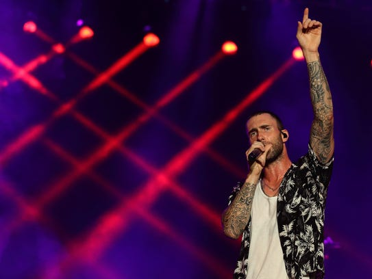 Adam Levine of Maroon 5 performs live on stage on Day