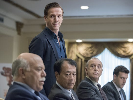 "Damian Lewis as Bobby ""Axe"" Axelrod in Billions"