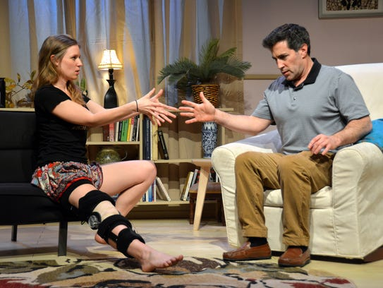 Heather Chrisler and Sam Osheroff in Riverside Theatre's