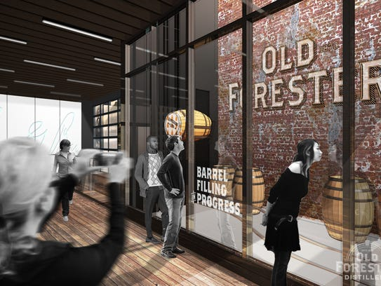 Rendering of the Old Forester Distillery, located at
