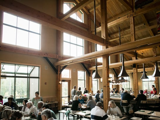 Soaring architecture over the Trapp Family Lodge Bierhall