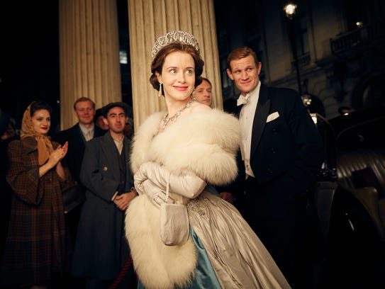 Claire Foy as Queen Elizabeth II  and Matt Smith as