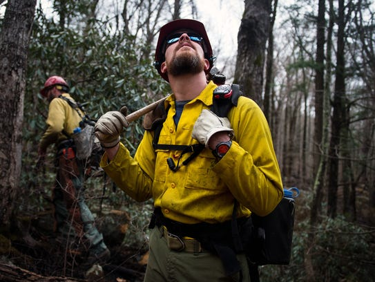 U.S. Forest Service firefighter Chad Heck, from the