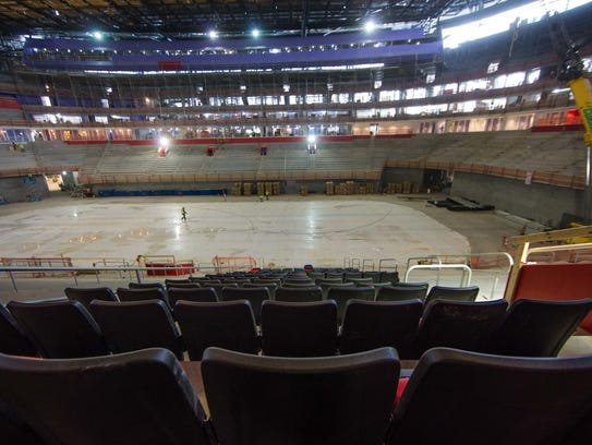First Glimpse Of Seats In Little Caesars Arena
