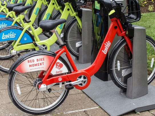 A rare number of red bikes are part of the 300 used