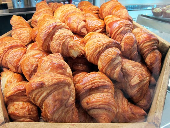 Croissants at La Colmar Bakery & Bistro, which opened