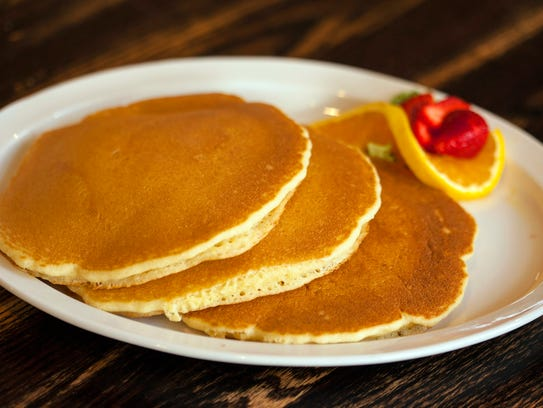 Hotcakes for breakfast at The Gavel Grill, which recently