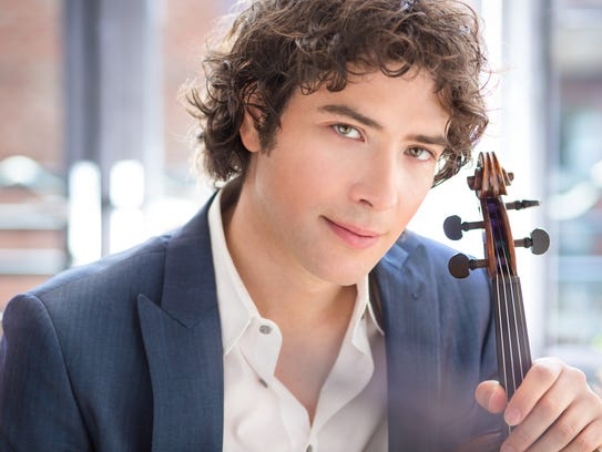 Violinist David Klinkenberg will perform two free shows