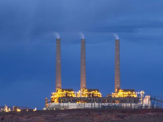 The Navajo Generation Station near Page, Arizona, on Navajo Nation land.