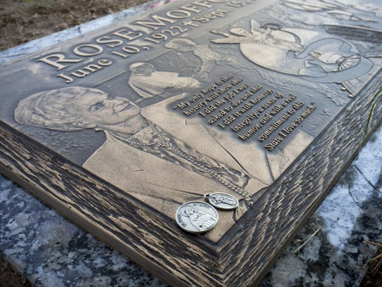 Gov. Rose Mofford's headstone was unveiled Friday at