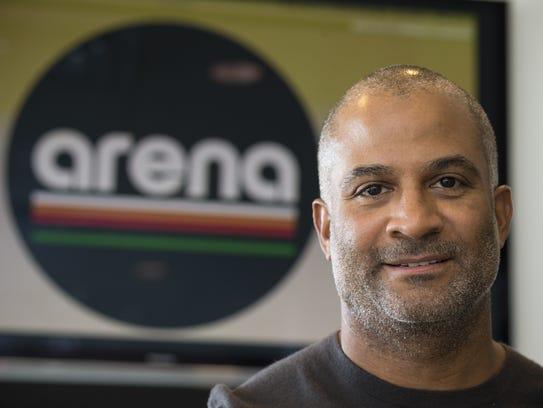A portrait of Arena founder Damon Evans on Thursday,